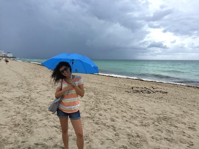 Nuvole spiaggia di Miami Beach