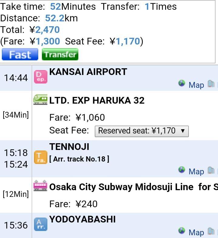 Giappone - Osaka - Journeydraft - TrasferimentoKansaiAPTOsaka