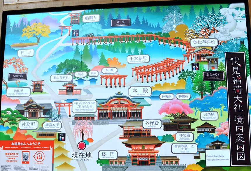 Giappone - Kyoto - Journeydraft - KyotoFushimiInariMappa